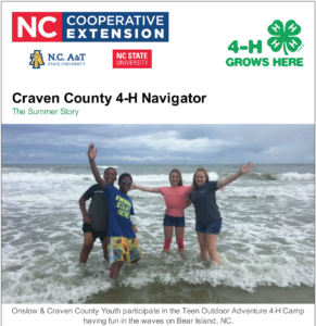 Cover photo for 4-H Summer Review Newsletter!