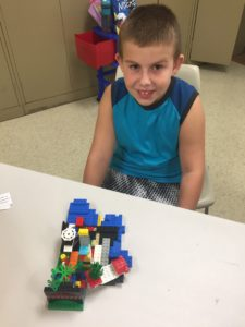 participant with their Lego project