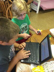 children on a laptop