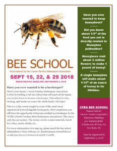 Cover photo for Craven-Pamlico Beekeepers Association Bee School