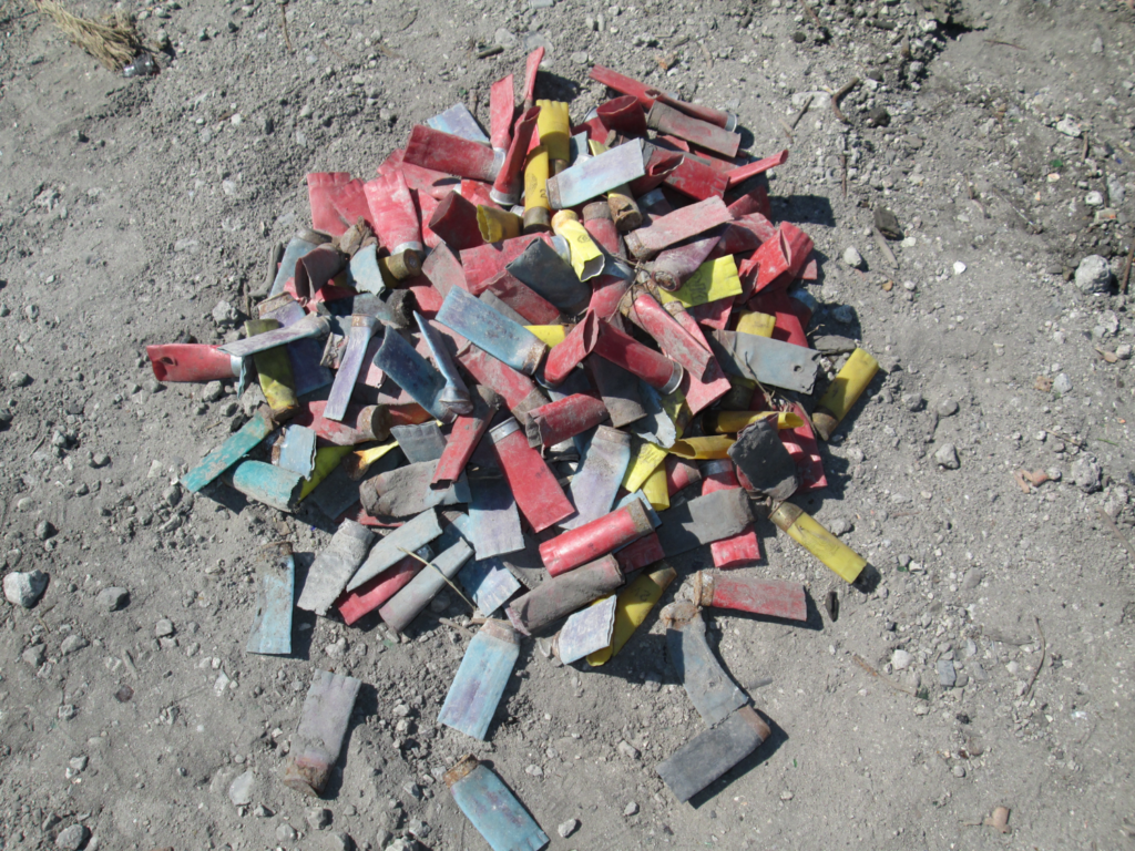 Image of spent shotgun shells