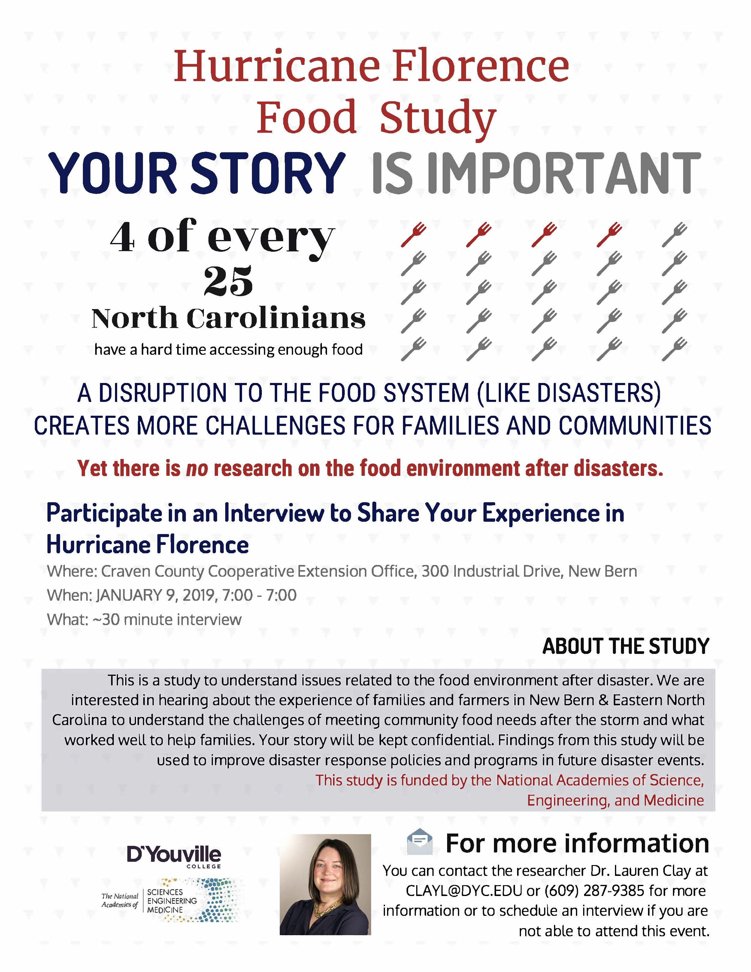 Food study flyer image