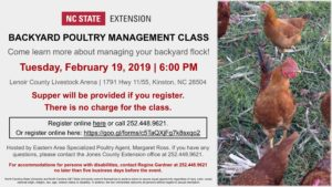 Cover photo for Backyard Poultry Management Class