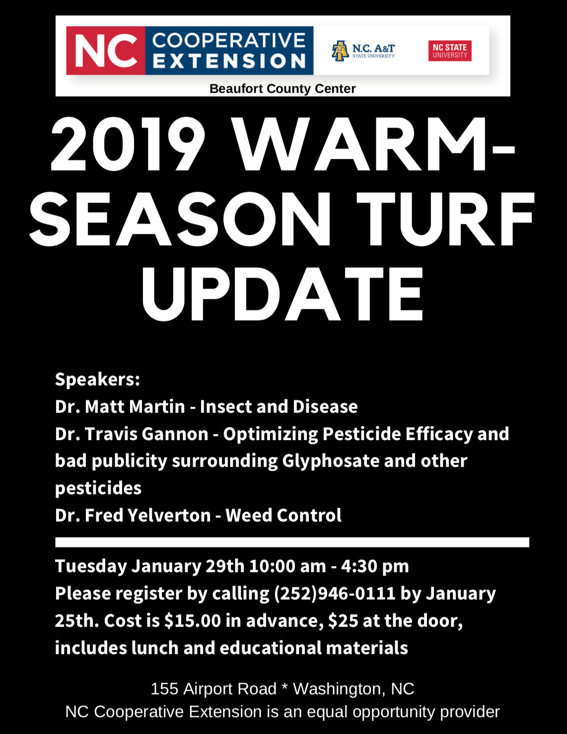 Turf update flyer image