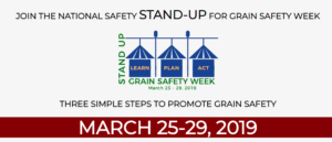 Cover photo for Stand Up for Grain Safety Week! March 25-31, 2019