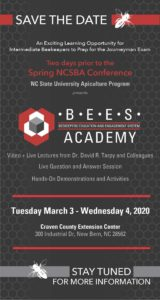 Cover photo for BEES Academy March 3-4, 2020