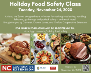 Cover photo for Holiday Food Safety Class