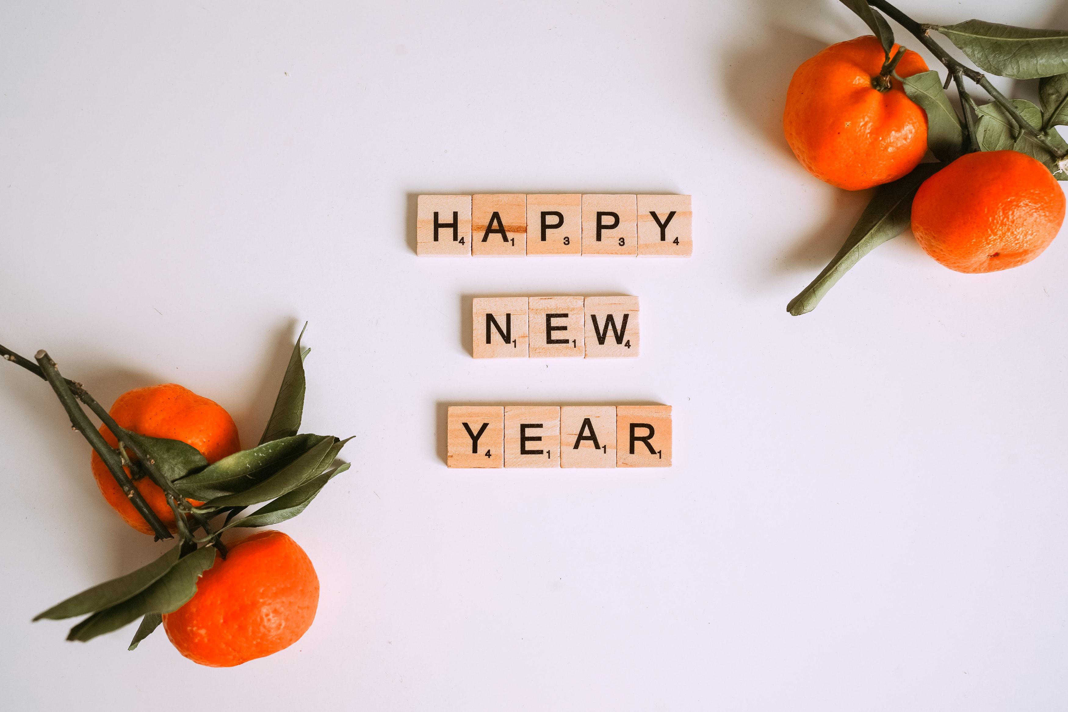 Happy New Year Scrabble tiles
