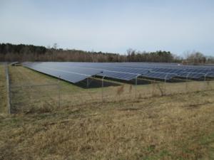 Image of solar panels on farmland